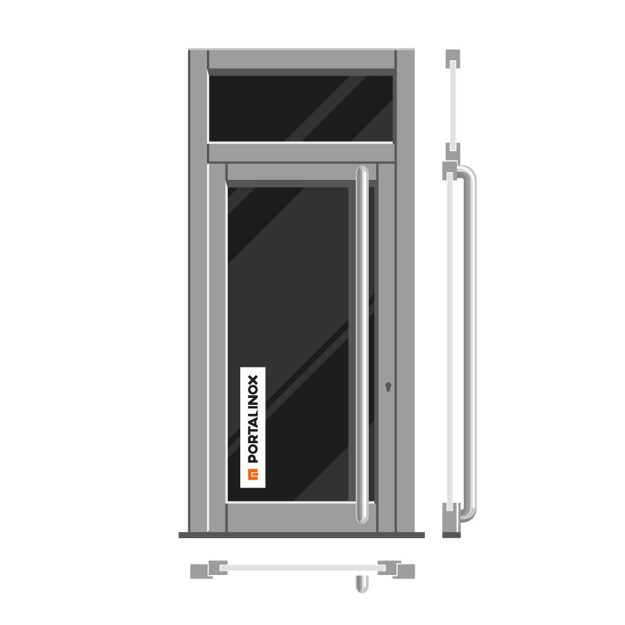 Portalinox puertas de portal de acero inoxidable precios for Puertas de entrada precios