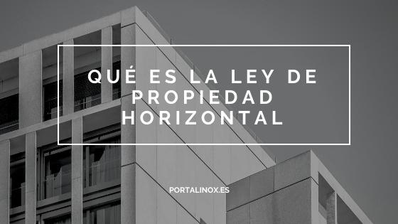 Todo sobre la propiedad horizontal